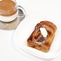 キントー カップ ユニティ ガラス S 8290 | キントー(コップ、グラス)を使ったクチコミ「今日の朝ごはん  山形抹茶あん食 分厚く…」