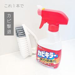 カビキラー 1000g 特大サイズ 本体 | カビキラー(漂白剤)を使ったクチコミ「こんにちは  家族で分担してお風呂掃除 …」