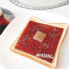 キントー カップ ユニティ ガラス S 8290 | キントー(コップ、グラス)を使ったクチコミ「おはようございます  今日の朝ごはんは …」