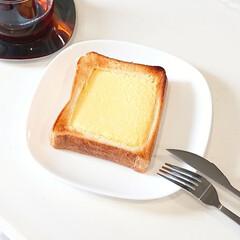 キントー カップ ユニティ ガラス S 8290 | キントー(コップ、グラス)を使ったクチコミ「ずっと気になっていた バスクチーズケーキ…」