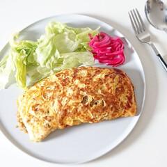 オタフク お好みソース 500g/(ウスター、中濃、お好みソース)を使ったクチコミ「今日のランチは オムそば飯  いつもなら…」