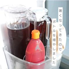 生活の知恵/冷蔵庫整理/冷蔵庫収納/冷蔵庫/キッチン小物/お茶/... こんにちは 暑くなってきましたね  我が…