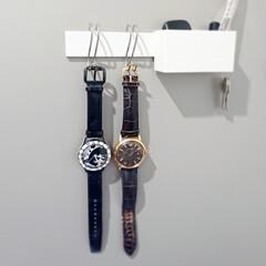 玄関ドア/玄関収納/100均収納/ズボラ主婦/収納グッズ/収納術/... 【腕時計収納】 我が家の時計収納  つい…