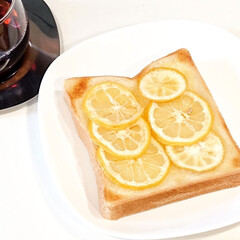 キントー カップ ユニティ ガラス S 8290 | キントー(コップ、グラス)を使ったクチコミ「こんにちは  今日の朝ごはんは 蜂蜜レモ…」