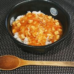 大塚食品マイサイズマンナンごはん【140g×24個】1ケース(ダイエット食品)を使ったクチコミ「今日の晩御飯は麻婆丼  1人分を作るのが…」