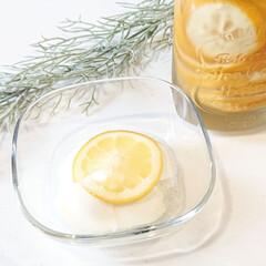 暮らしを楽しむ/おしゃれ雑貨/スイーツ/ひんやりスイーツ/レモン/はちみつレモン/... こんにちは  今日のおやつ 蜂蜜レモンヨ…