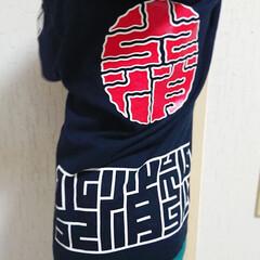 お花/Tシャツコーデ/男の子/子育てママ/キッズ/Tシャツ/... 火消魂のキッズTシャツ 110㎝なので少…