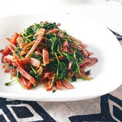 緑のある暮らし/ベーコン/グルメ/ぐるめ/料理/手作りご飯/... こんにちは  先日postした豆苗ですが…