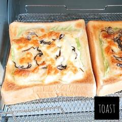 オーブントースター こんがり倶楽部 EQ-AG22-BA(ブラック) | 象印(トースター)を使ったクチコミ「こんにちは  今日のトーストは 先ほどご…」