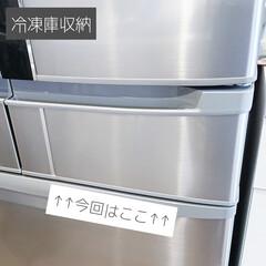 時短/整理収納/ストック収納/ズボラ家事/ズボラ主婦/ご飯保存/... 【冷凍庫収納】 サイドにある小さな冷凍庫…