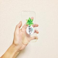 iPhone/100均/ハンドメイド いろはすのiPhoneケースを作りました。