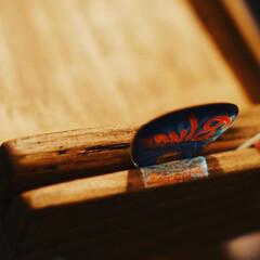 ブライワックスジャコビアン/譜面台/100均リメイク/フック/セリア/DIY/... ミニ譜面台、塗装して完成〜♪  ボチボチ…(2枚目)