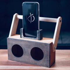 カフェ板/定規/観葉植物のある暮らし/すのこリメイク/ローテーブル/スマホスピーカー/... 最近の簡単DIy✨を載せておきます。 暇…(4枚目)