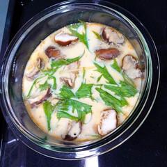 もう1品/おうちごはん/手作り料理/茶碗蒸し/簡単 数日前にヘルシオで作った茶碗蒸しです。意…
