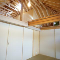 縁無し畳 寝室として使われている和室は、将来仕切れ…