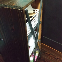 ステンシル/コルクボード/サインプレート/ダイソー/収納/DIY/... DIY初心者の適当DIY 杉の無垢床材で…(2枚目)