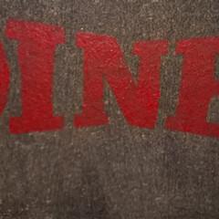 ステンシル/コルクボード/サインプレート/ダイソー/収納/DIY/... DIY初心者の適当DIY 杉の無垢床材で…(4枚目)
